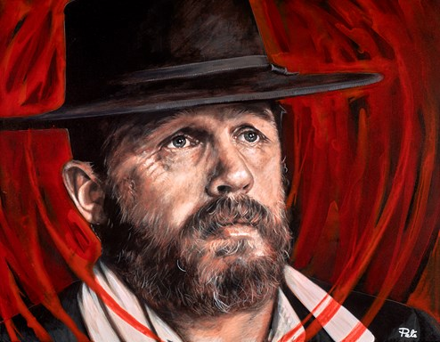 Alfie Solomons by Pete Humphreys - Original Painting on Stretched Canvas
